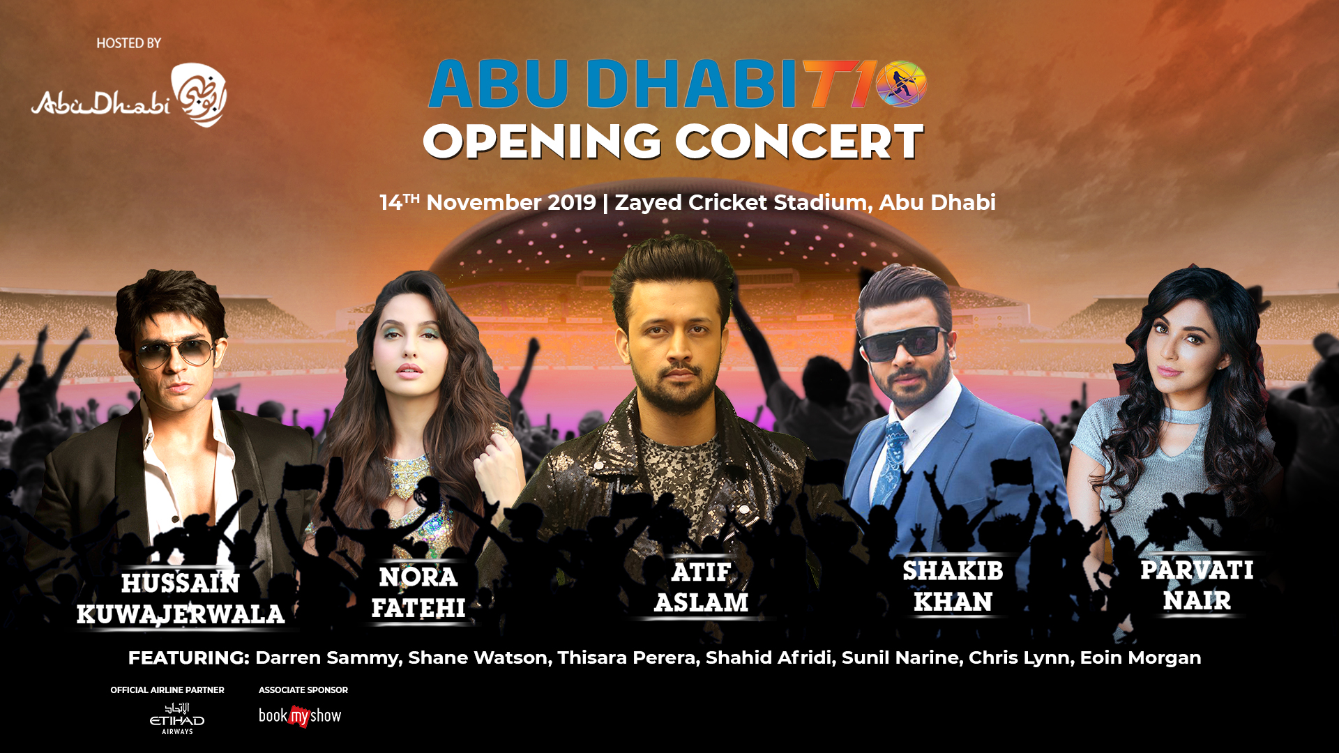Abu Dhabi T10 Opening Ceremony Concert